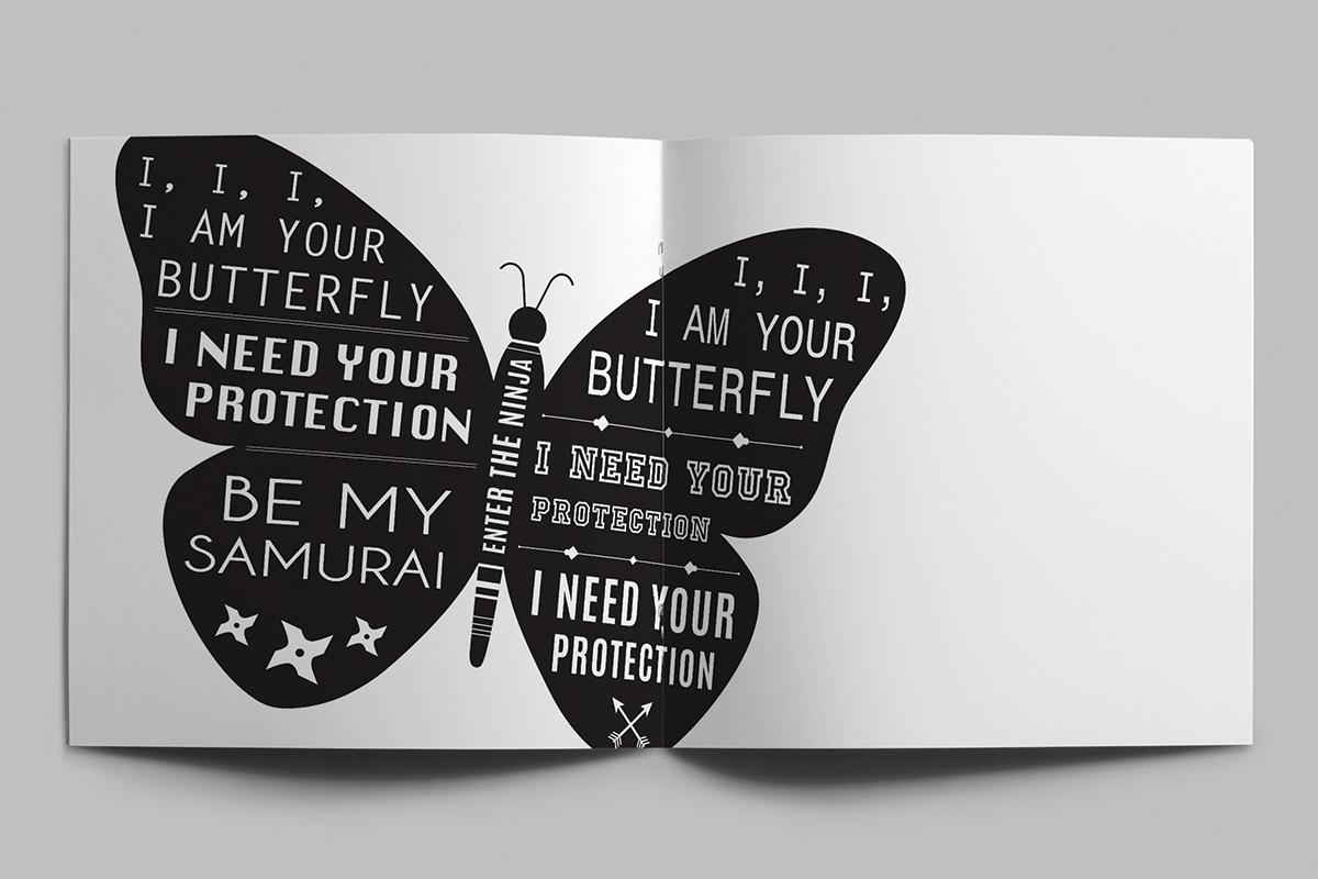 Typographic Booklet Die Antwoord On Behance