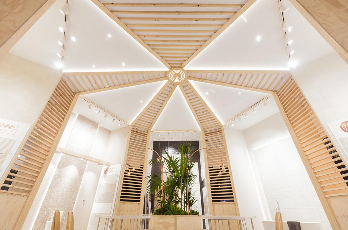 Stand design Fair Exhibition  ceramic Cevisama Interior architecture decoration Space