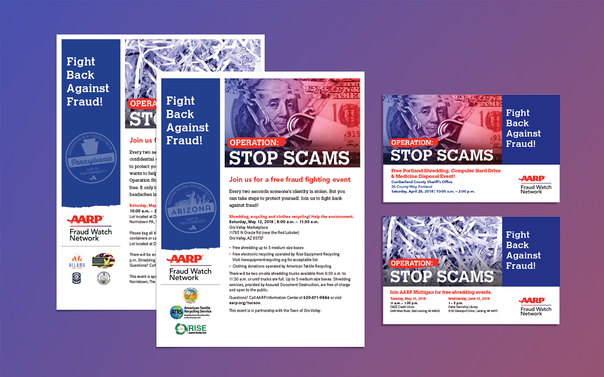 Operation: Stop Scams | Event Collateral on Behance