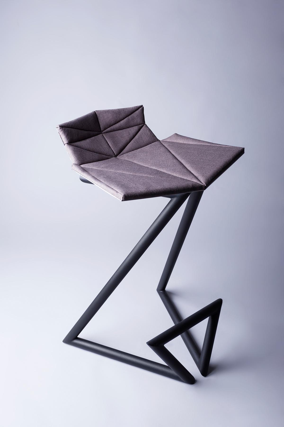 Karchman z-chair contemporary design oleksii karman ukrainian design ukraine design metall chair design chair Bar chair bar stool