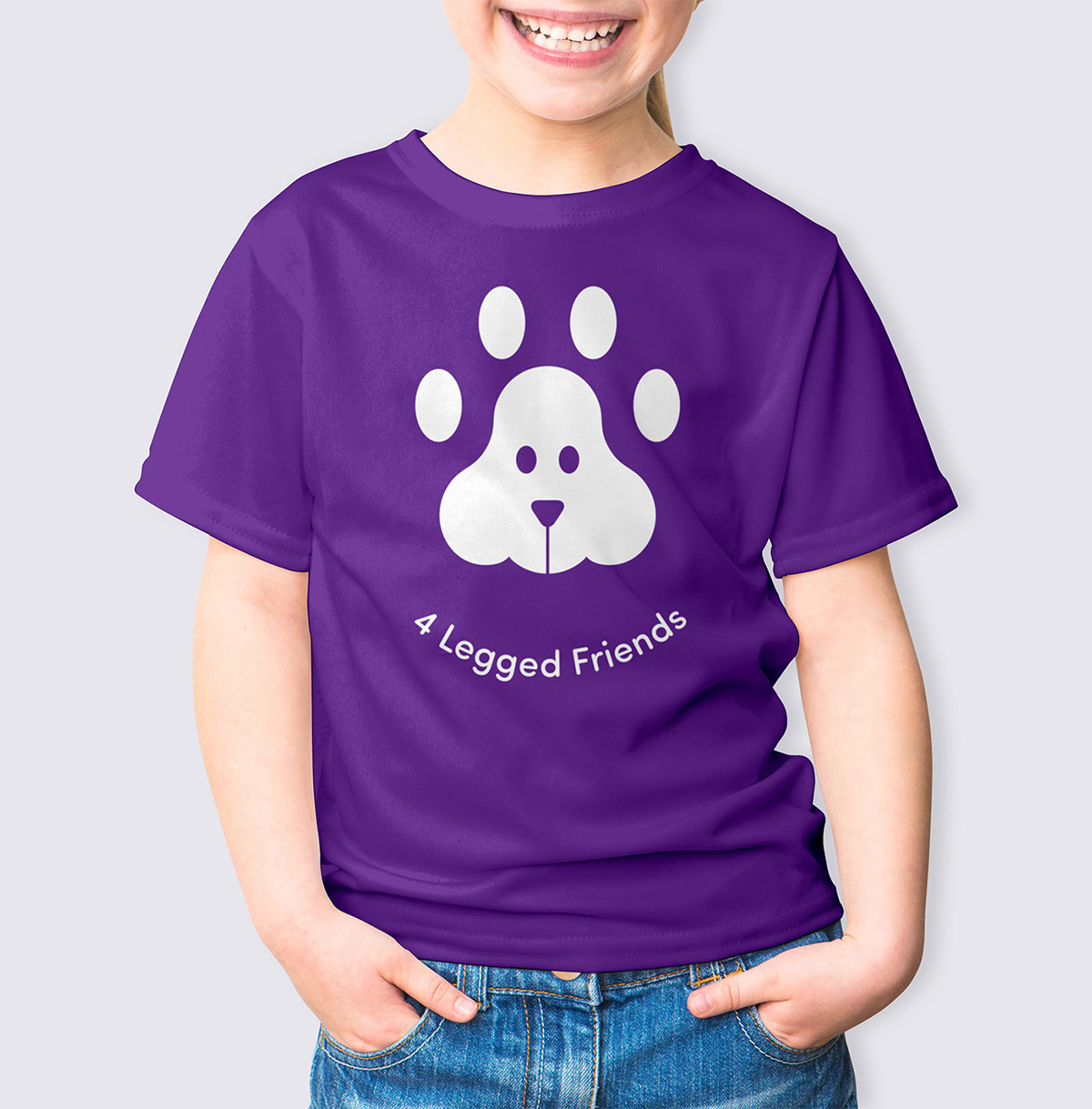 superfried 4 legged friends Logo Design branding  Animal Therapy charity identity ILLUSTRATION  graphic design  manchester