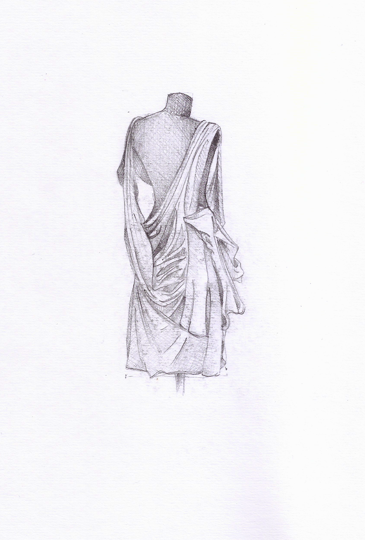 Draping Observational Drawings On Behance