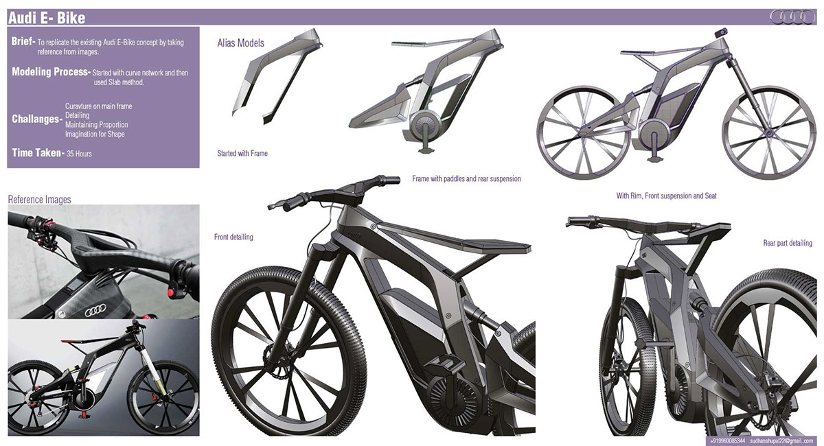 audi e bike on behance. Black Bedroom Furniture Sets. Home Design Ideas
