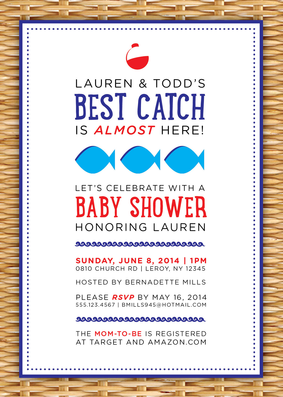 Best Catch: Fishing Themed Baby Shower Invitation on Behance