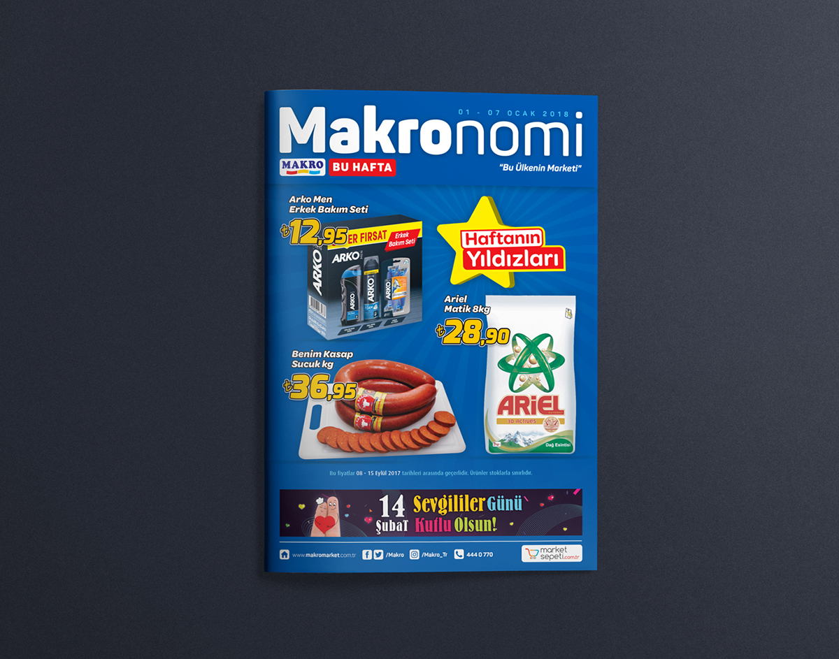 Makronomi - Katalog / Market Insert on Pantone Canvas Gallery