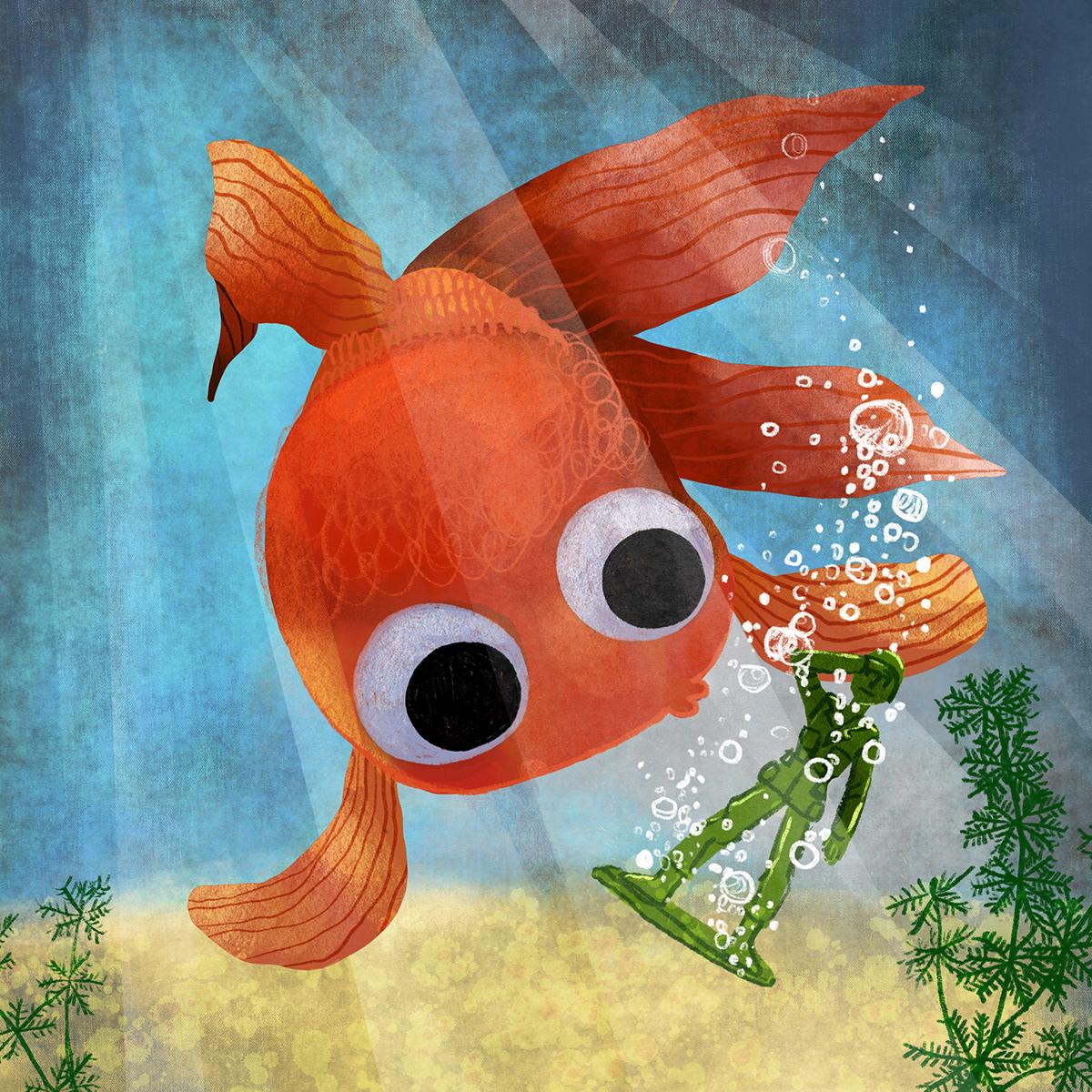 children'sillustration fish fish bowl fish illustration kidlit kidlitart