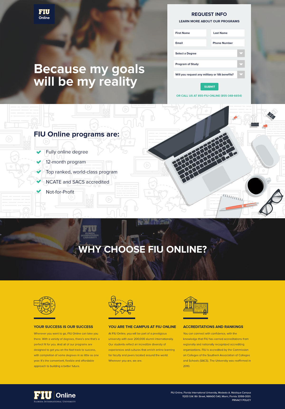 Fiu Online Landing Pages On Behance