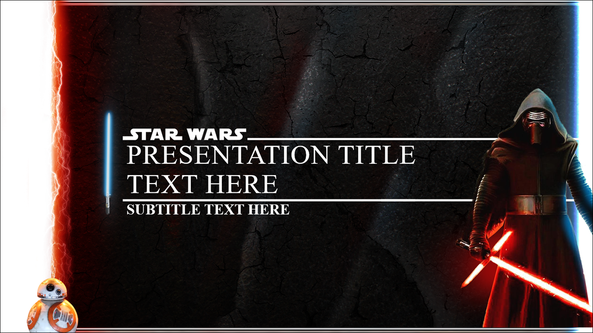 star wars force awakens powerpoint template on behance