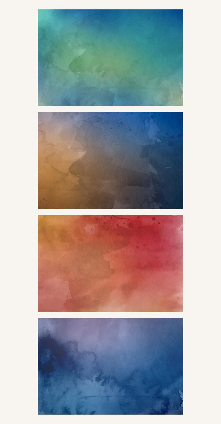 Watercolor Backgrounds Freebie on Behance