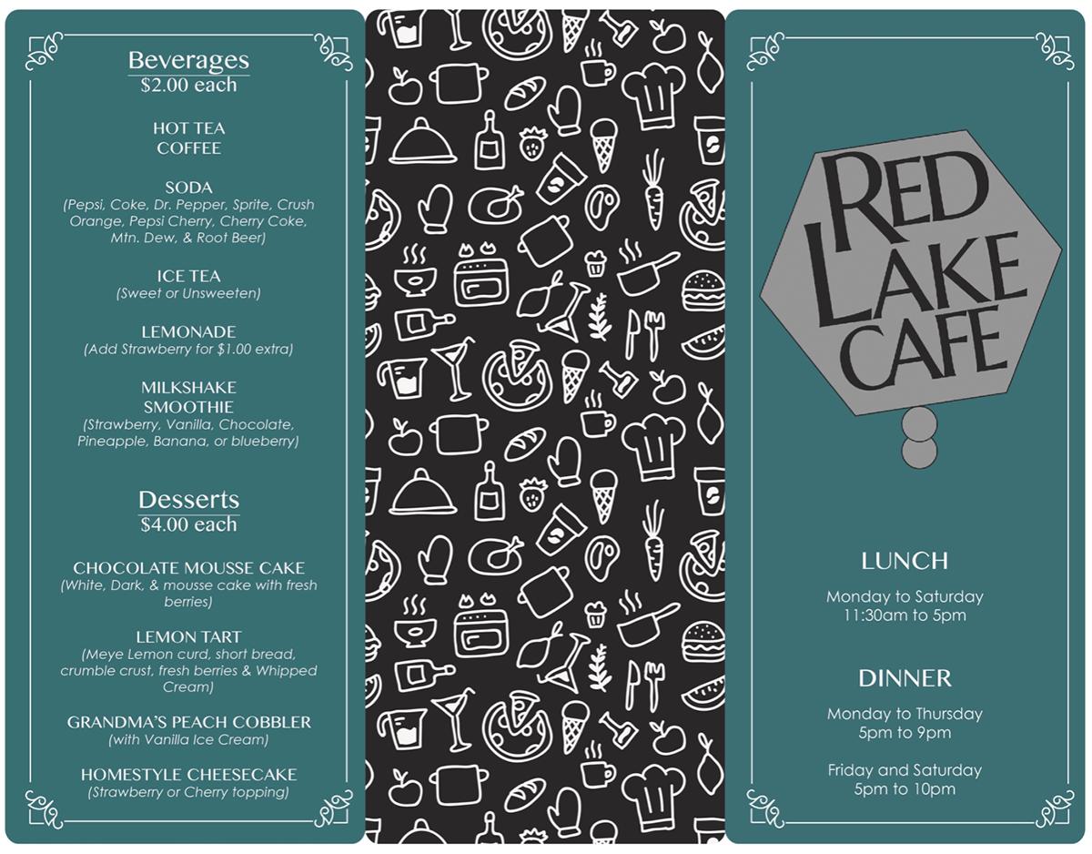 trifold menu design project on behance