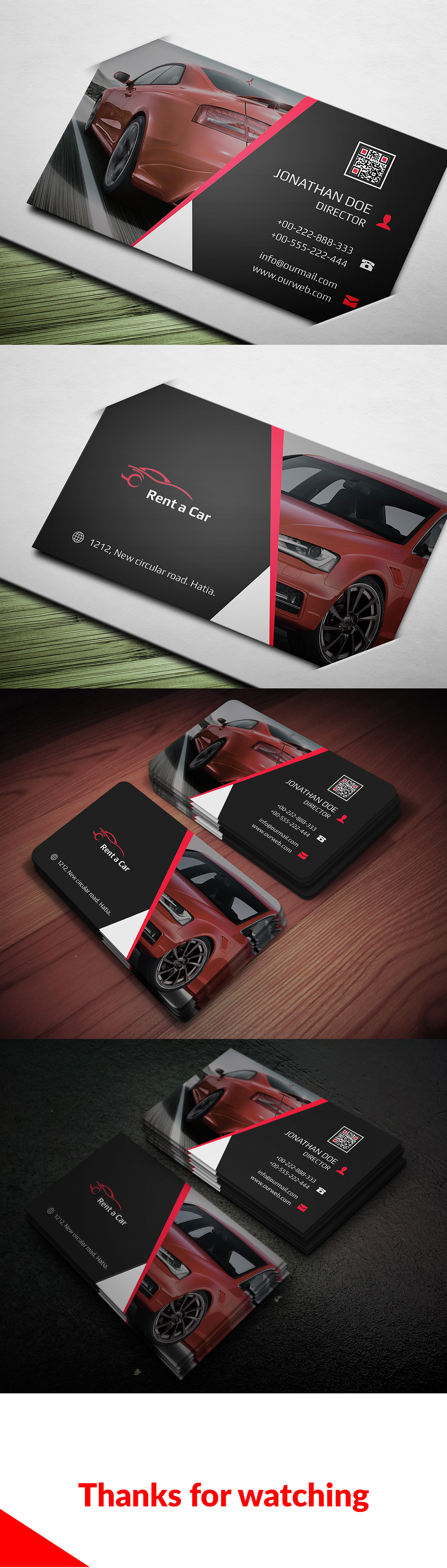 rent a car business card free for on behance