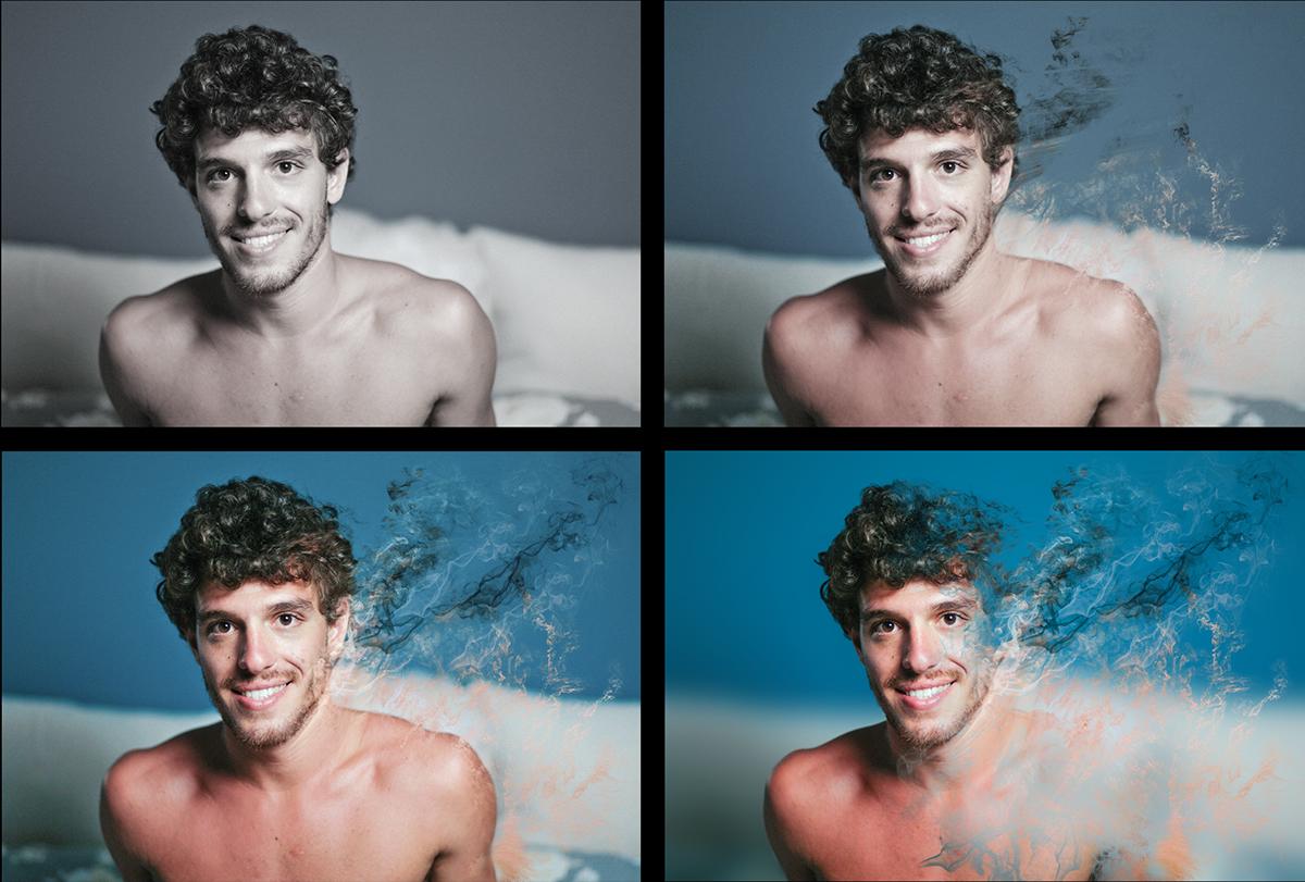 Smoke Effect - Photoshop CS6 - Printed on canvas on Behance