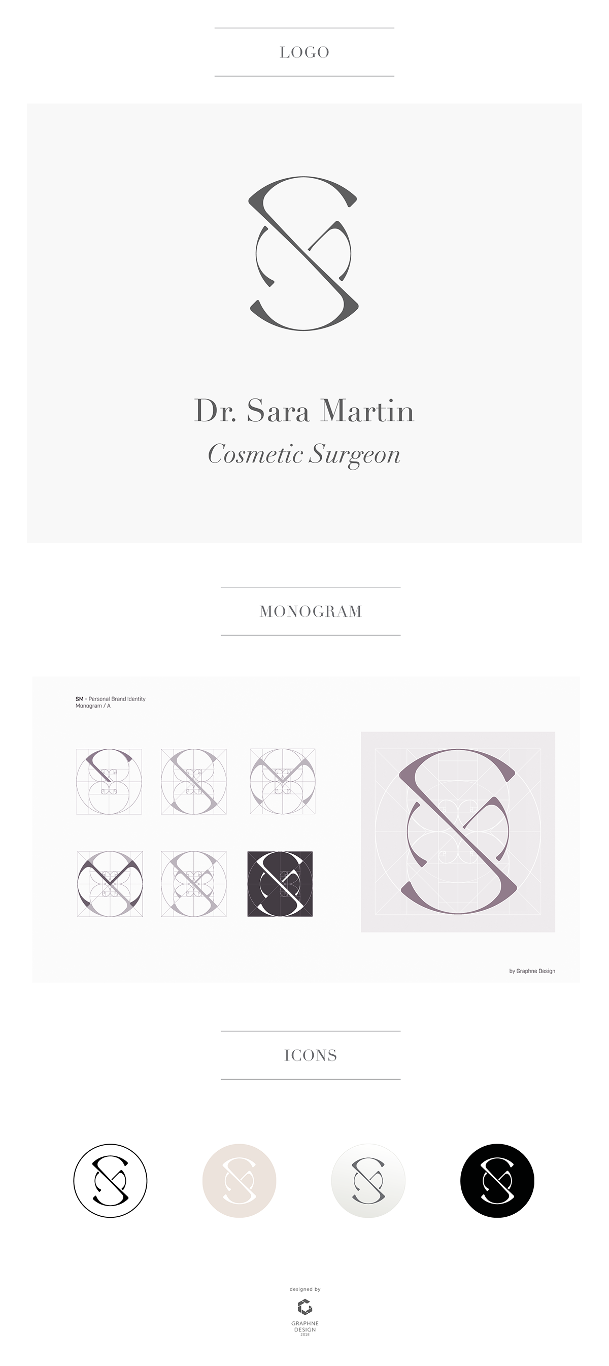 Sm Cosmetic Surgeon Personal Brand Identity On Behance