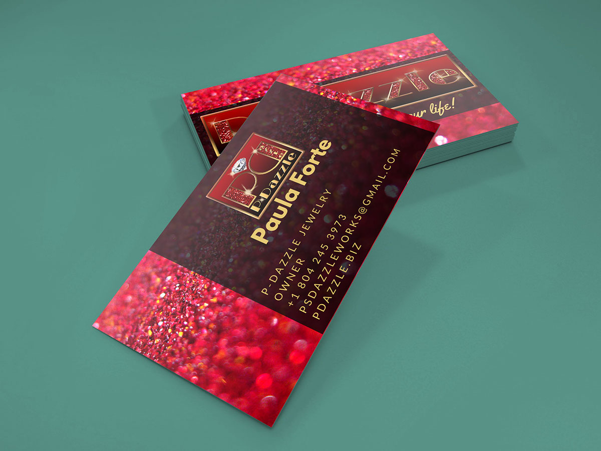 P-Dazzle Business Cards on Behance