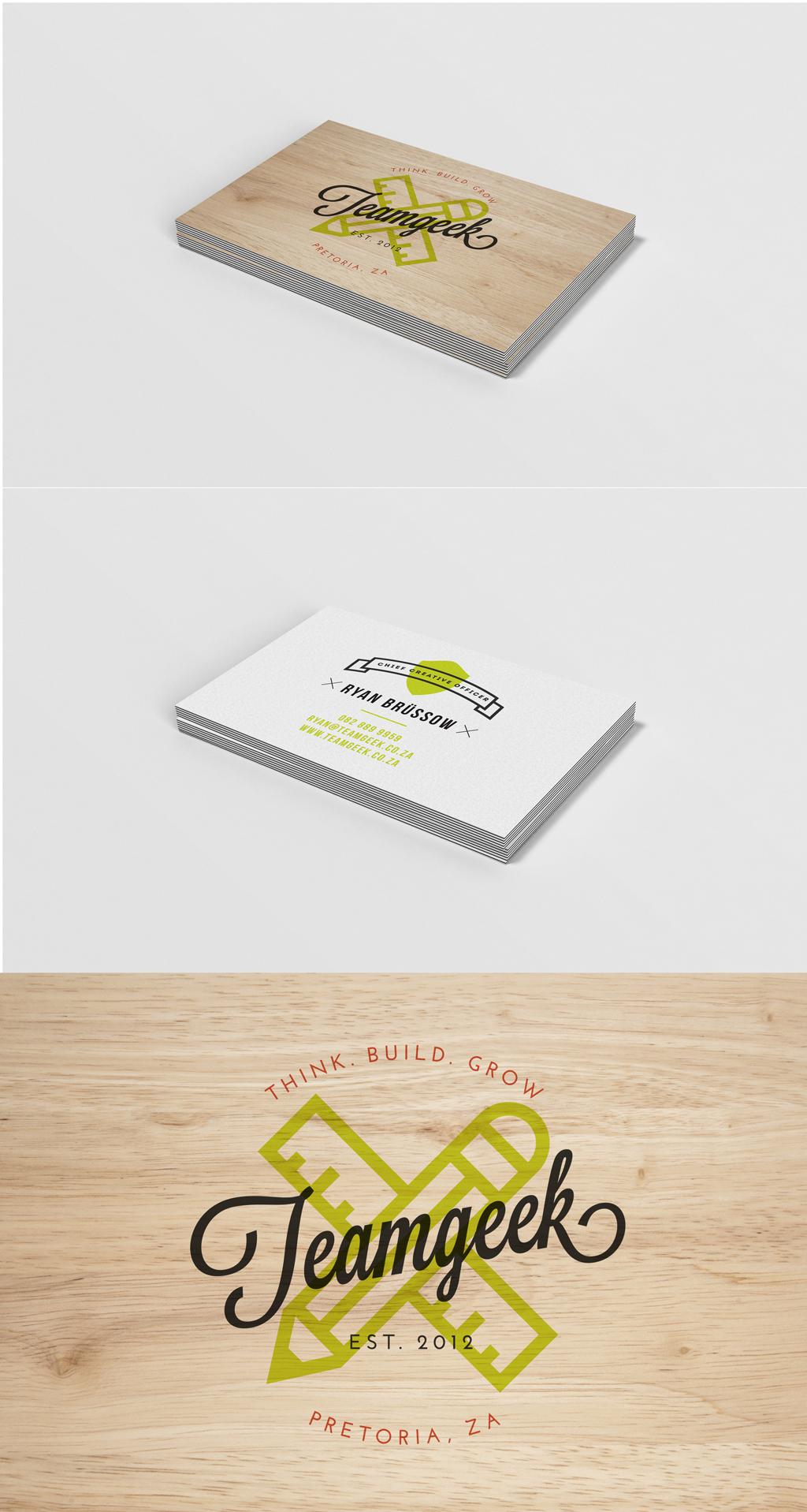 Team Geek   Business Card Design on Behance