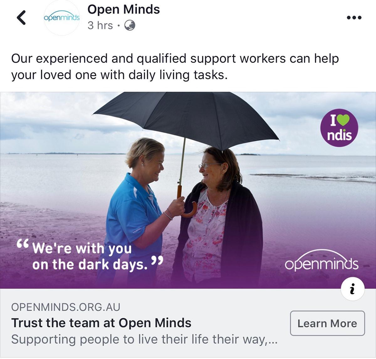 mental health social media Advertising  facebook instagram campaign