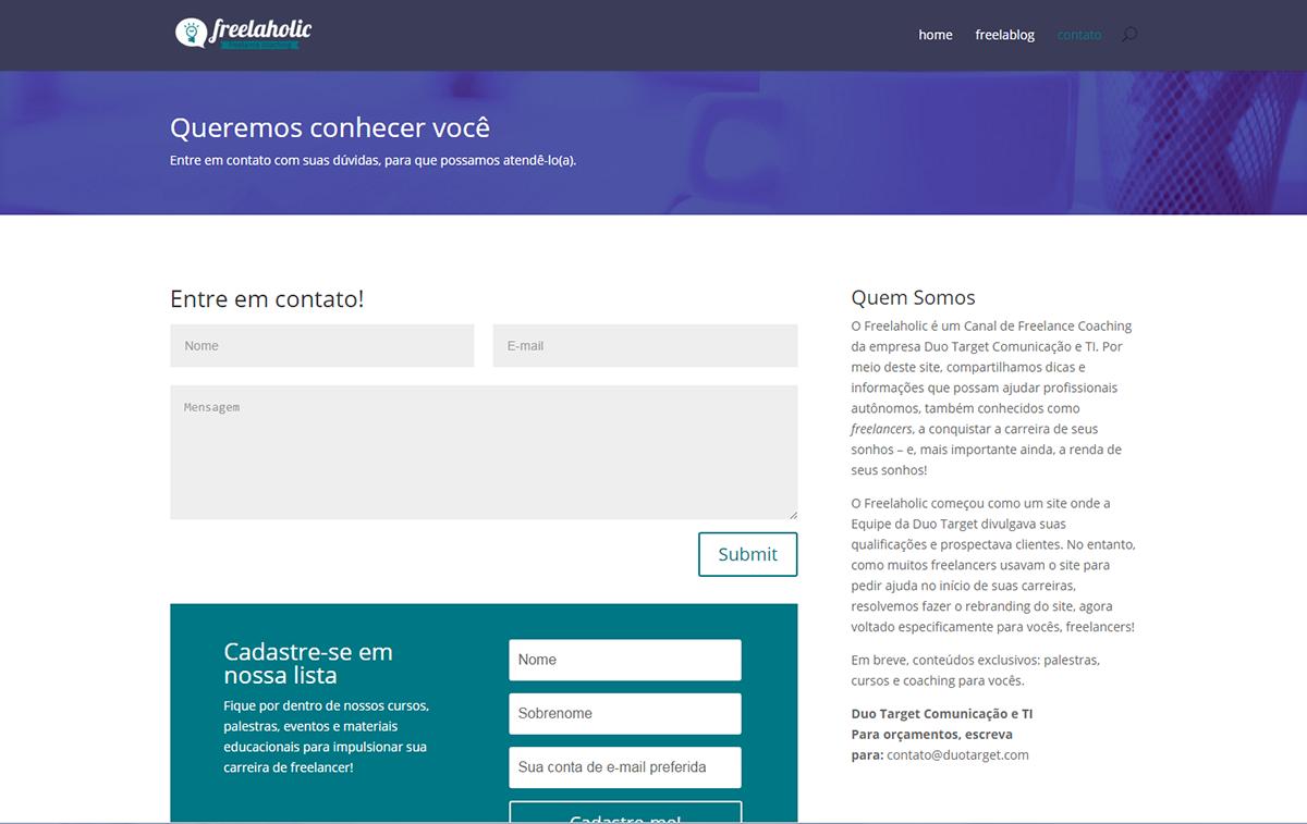 Freelaholic: novo site