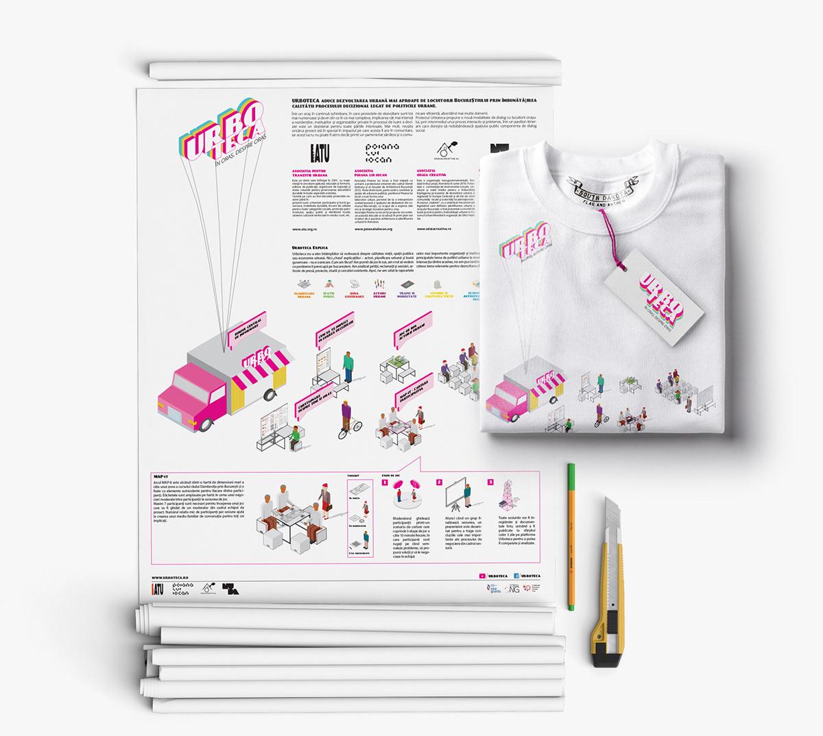 public participation pop-up pavilion adobe illustrator Isometric urban planning city Web Design