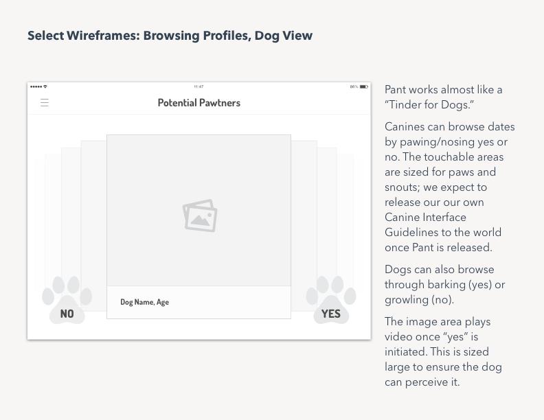tinder app design ios iPad UX Research visual design