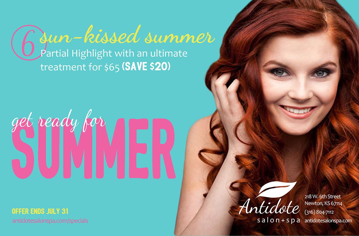 Antidote Salon Spa Summer Specials On Behance