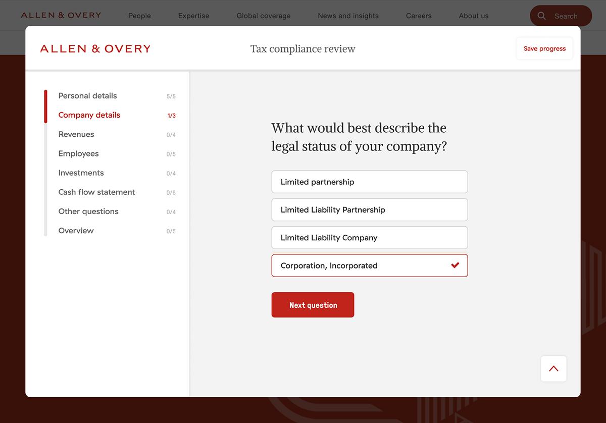 Form Forms legal questionnaire survey ui design UX design