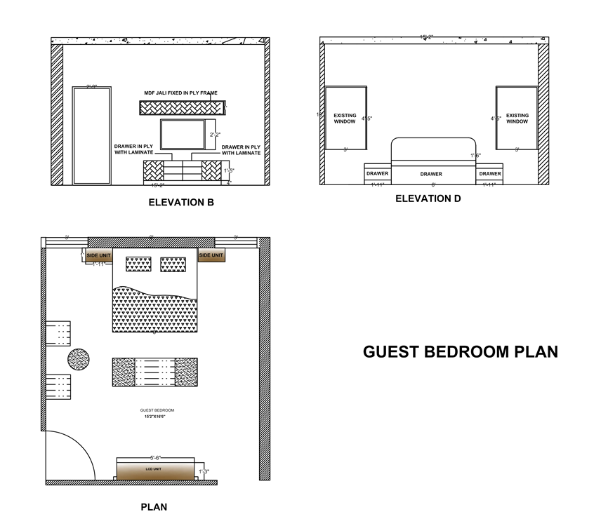 2d house elevation designs in autocad on behance Master bedroom plan dwg