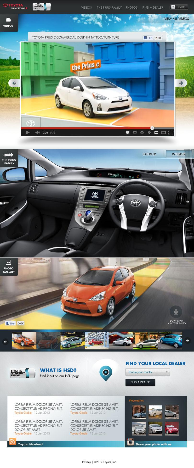 automobile Facebook tab information architect