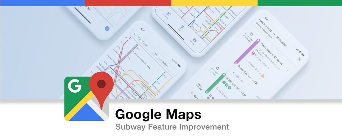 How To Put Subway Map On Google Maps.Google Map Subway App Feature Design On Behance