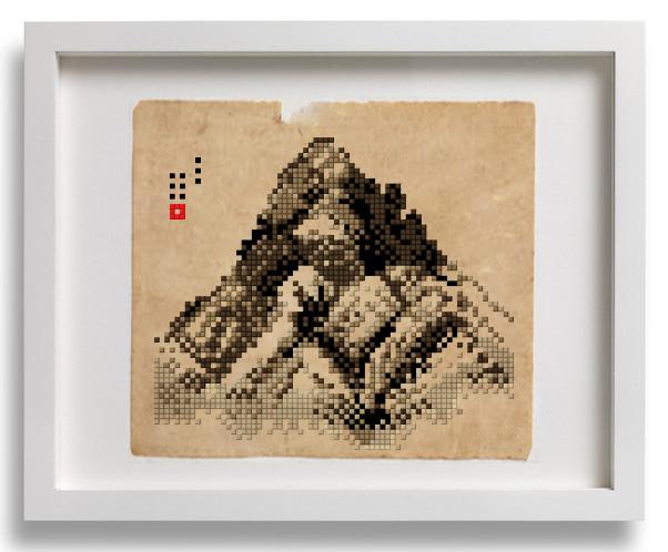 pixel pixelart 8bit 8bitart dot Retro masterpiece korean artist Korea stitch Exhibition  joojaebum