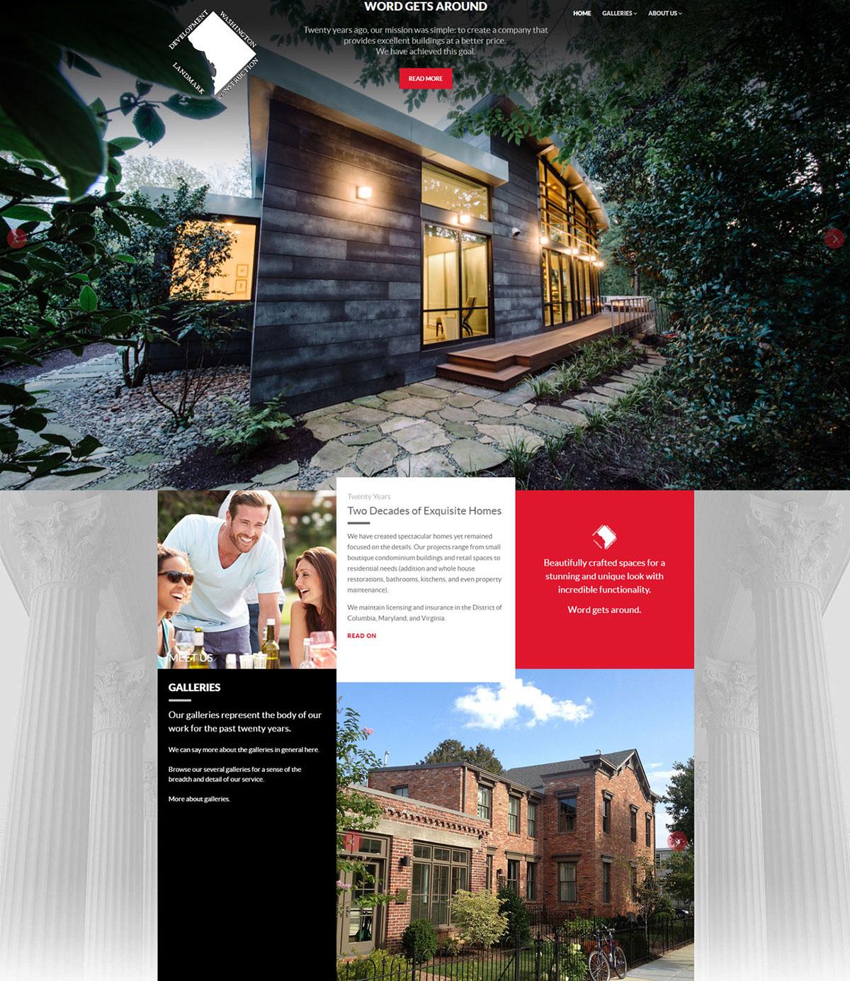 Web Design  construction builder residential architecture Photography  Website Design