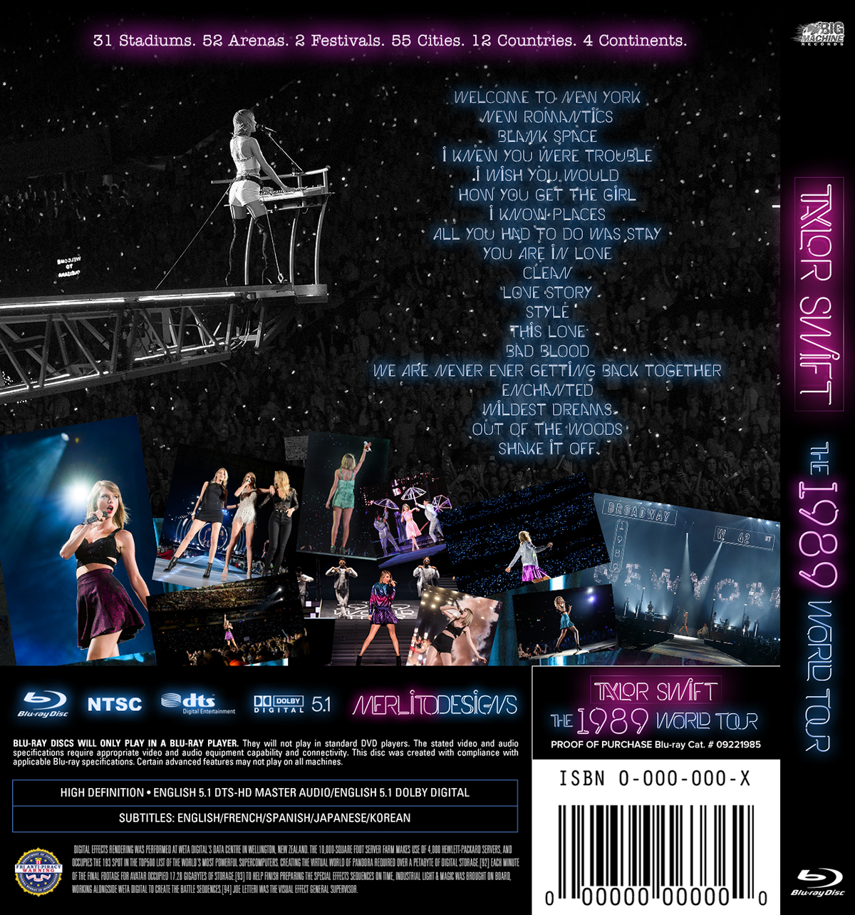 Taylor Swift The 1989 World Tour Blu Ray On Behance