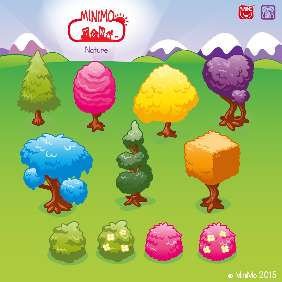 minimo town minimo game Educational Game children buildings citizens decoration Items graphic assets Game Assets