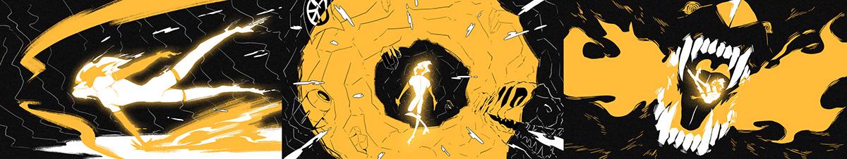 iQOO animation  cel logo yellow phone Collection