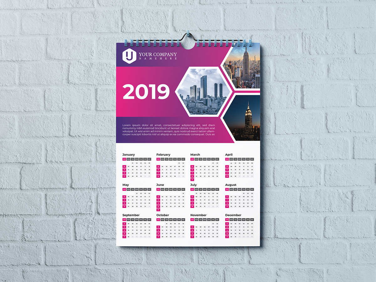 Wall Calendar 2019 On Student Show