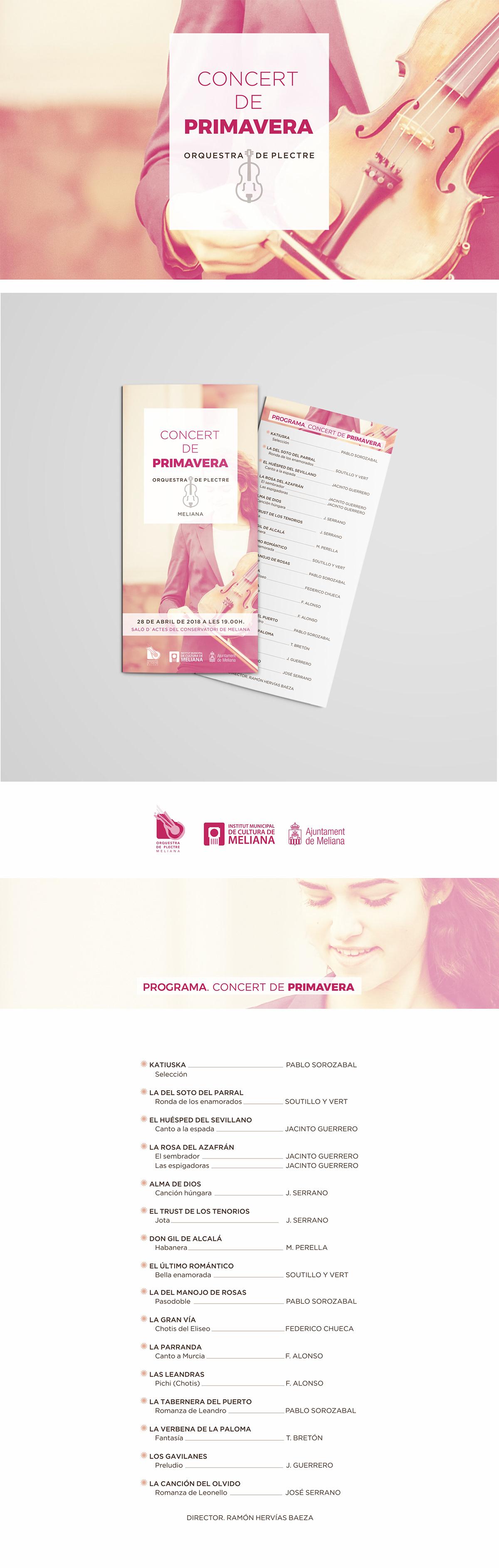 flyer maquetación programa concierto