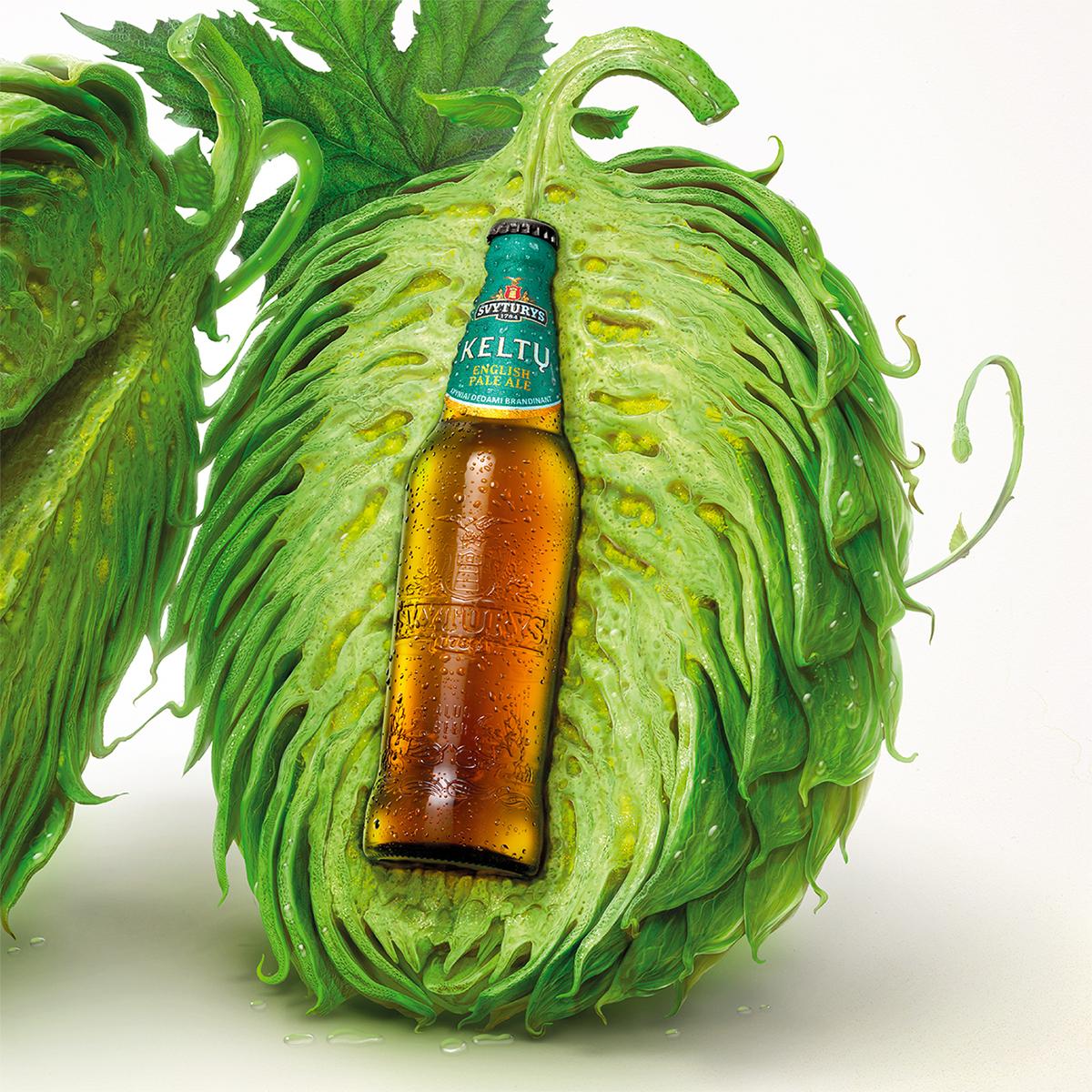 Svyturys beer hop macro vilnius lithuania Celtic 3D