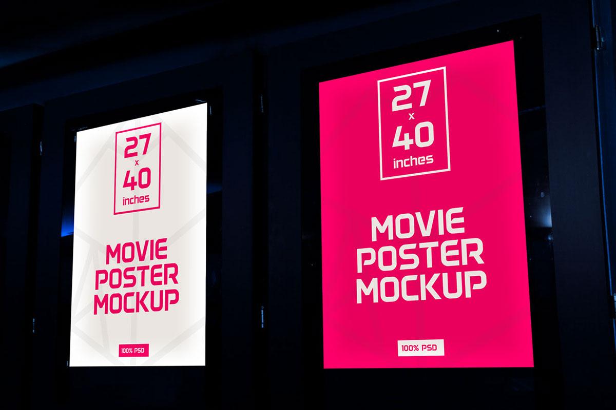 movie Cinema Mockup poster kino mock-up mock up