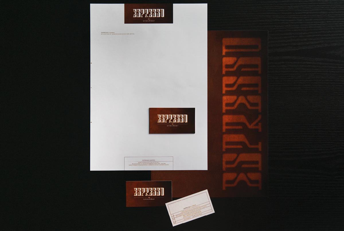 branddesign logo espresso typo stationary pencil paper bar cafe #HP