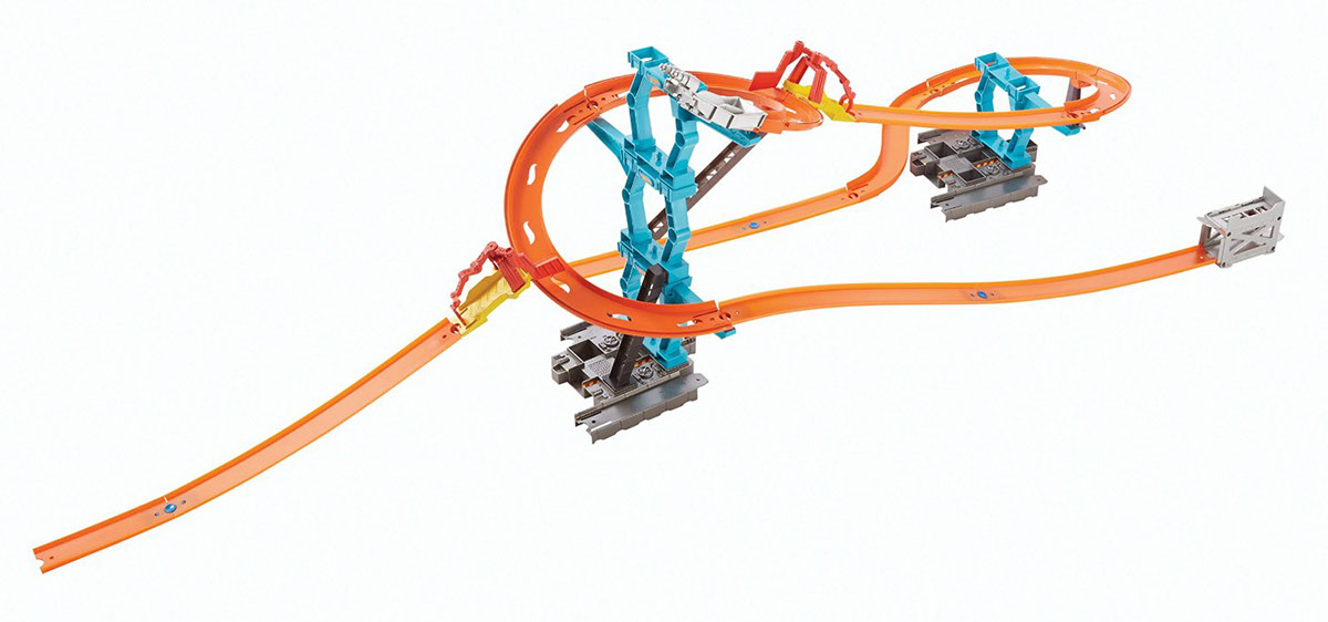Hot Wheels Track Builder Spiral Stack Up Trackset On Behance