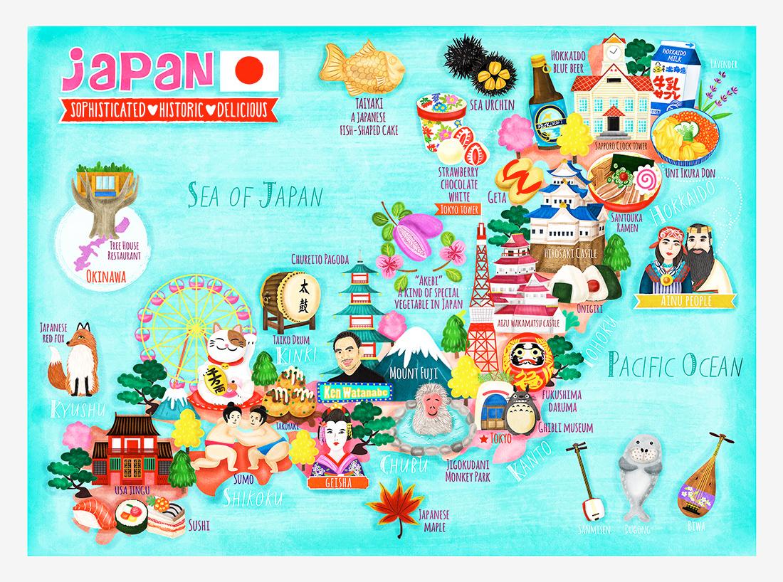 Japan Map Illustration on Behance - photo#3