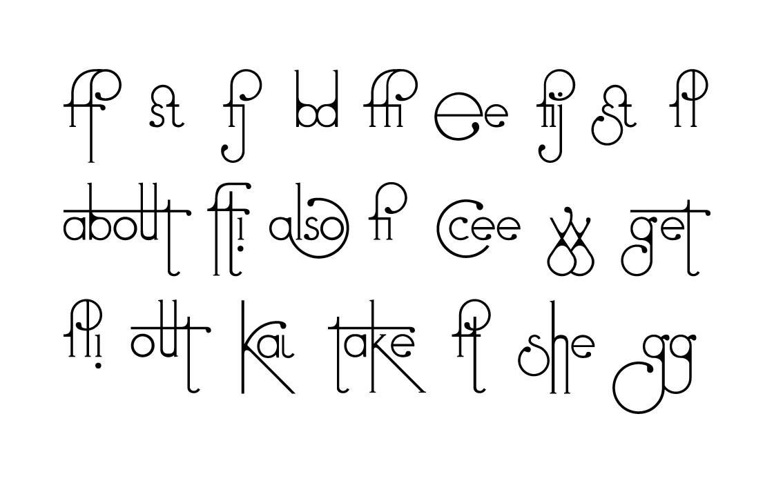 Typeface font art deco