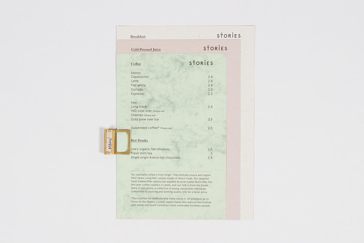 cafe Coffee juice Scandinavian Food  paper RECYCLED shop menu pastel