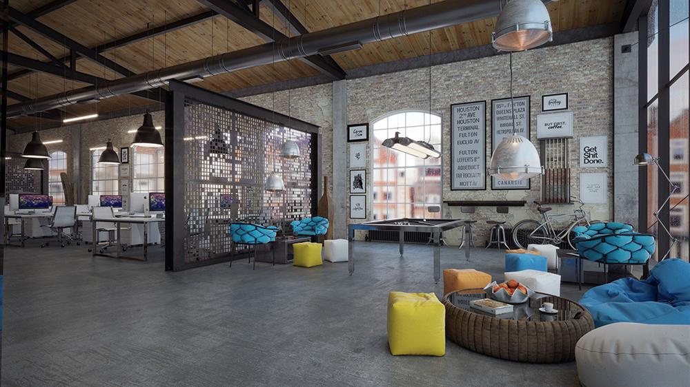 OFFICE DESIGN   Loft IT Office Interior Design On Behance