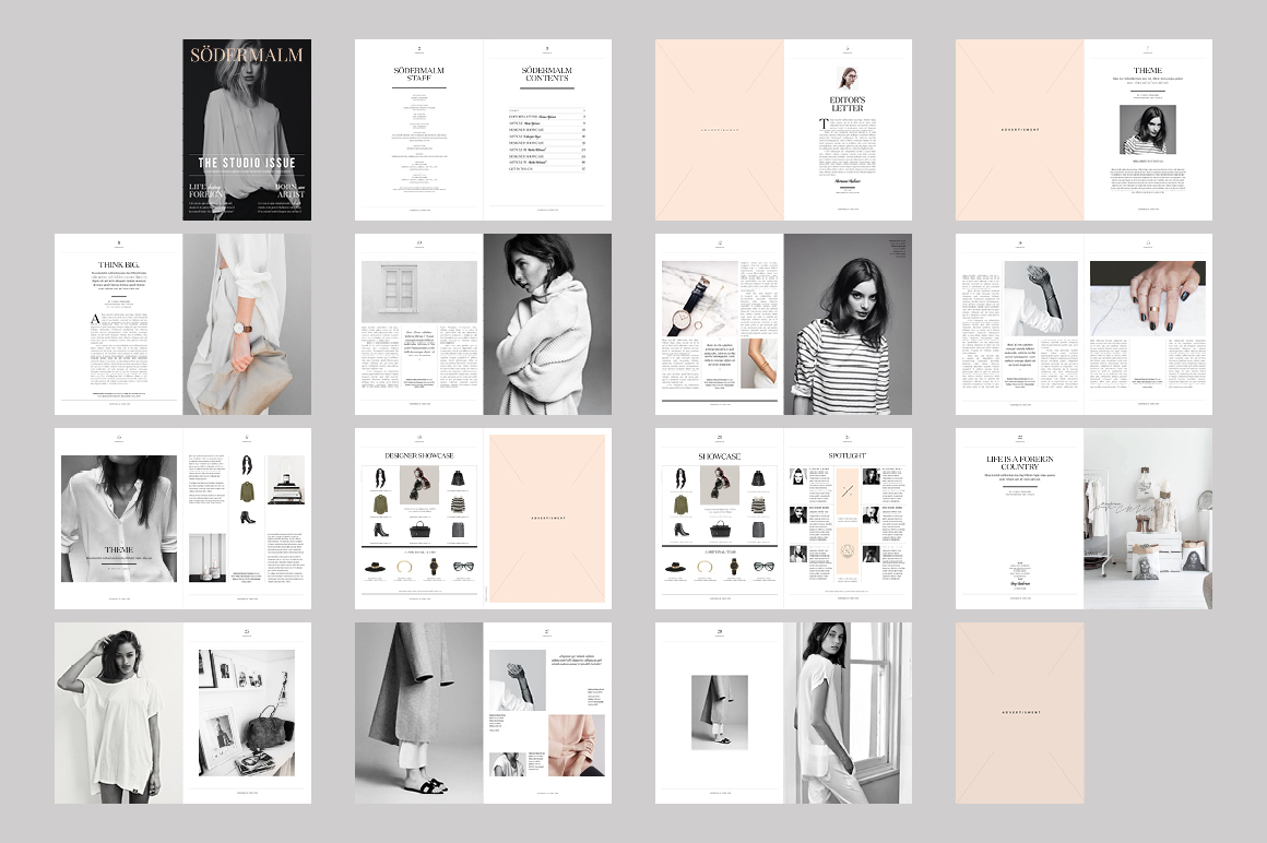 S dermalm magazine template on behance for Free architecture magazines