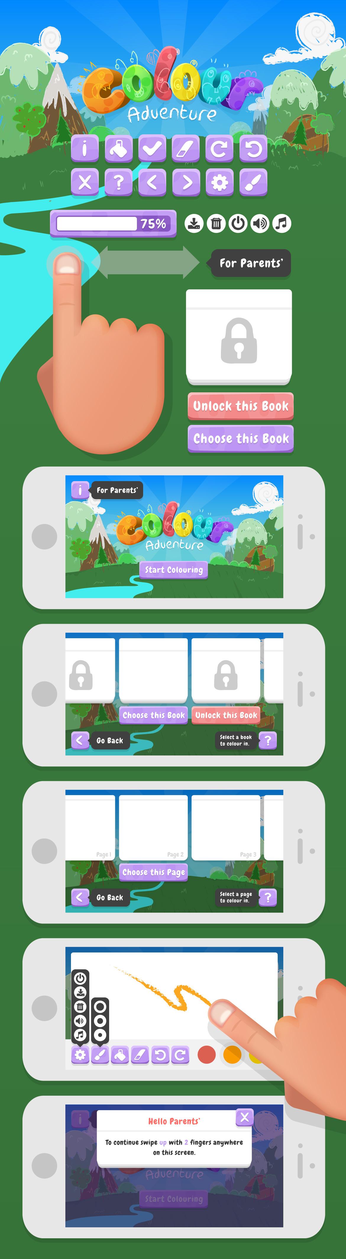 Colour Adventure User Interface Design on Behance
