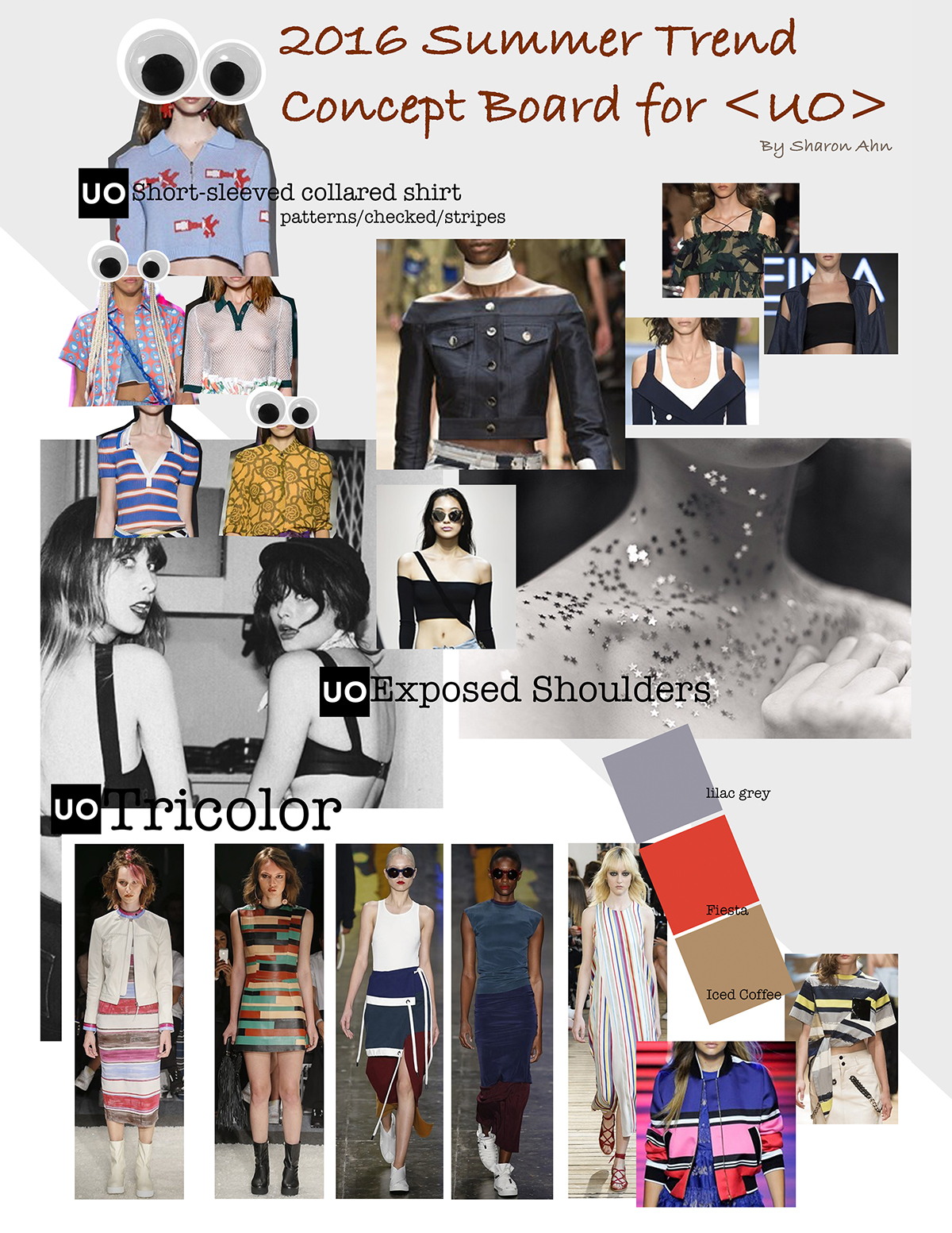 2016 Summer Trend Concept Board For Urban Outfitters On Scad Portfolios