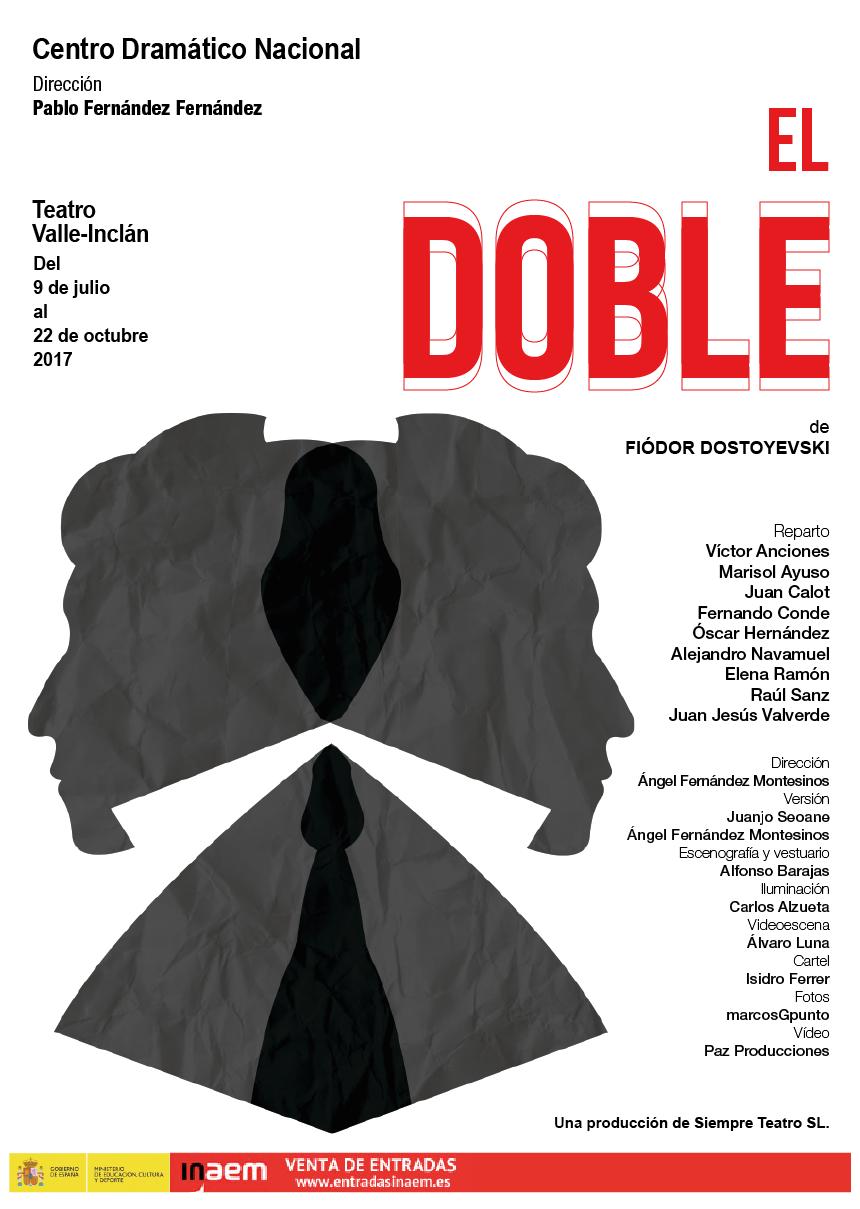 poster diseño teatro dostoyevski Mockup brochure folleto Theatre