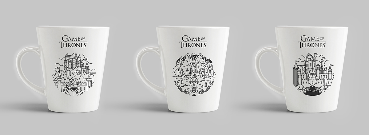 Game Of Thrones Line Art On Student Show
