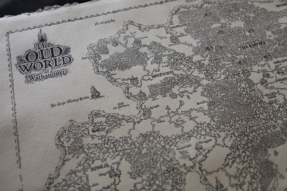 Hand Printed Map The Old World Of Warhammer On Wacom Gallery