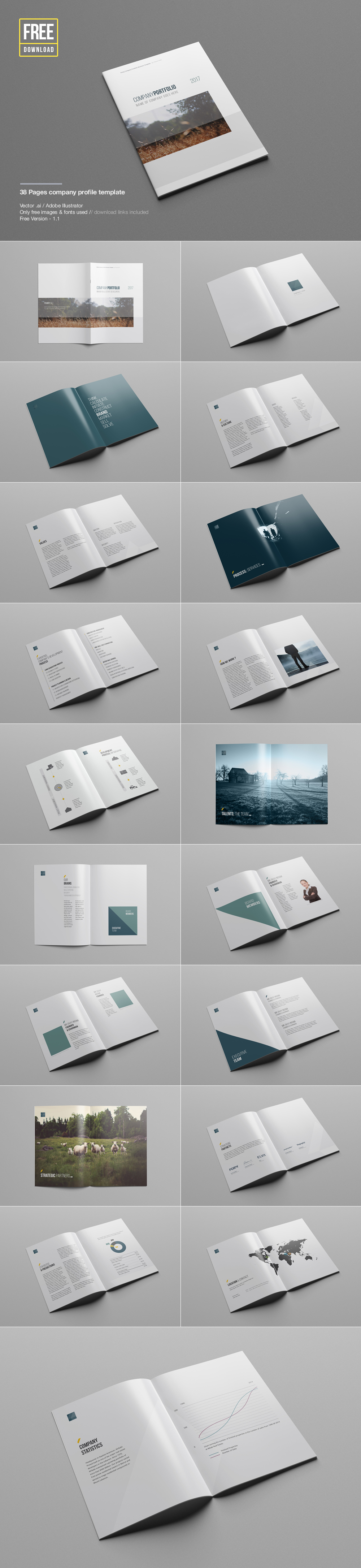 Business Company Profile Template Free Psd File On Behance  Free Business Profile Template